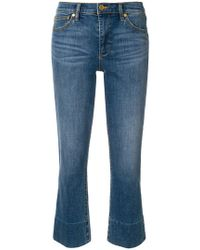 Tory Burch - Flared Cropped Jeans - Lyst