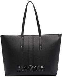 John Richmond エンボスロゴ ハンドバッグ - ブラック