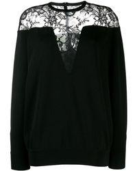 Givenchy レースパネル セーター - ブラック