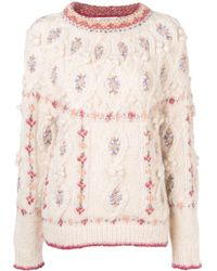 Mes Demoiselles - Round Neck Cable Knit Jumper - Lyst