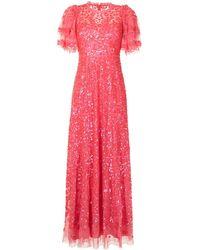 Needle & Thread Seren スパンコール ドレス - ピンク