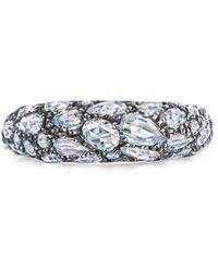 Fred Leighton Bague Bombe en or blanc 18ct ornée de diamants - Métallisé