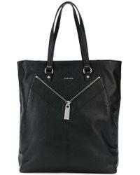 DIESEL - Zip-detailed Tote Bag - Lyst