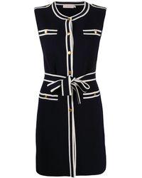 Tory Burch Платье С Контрастной Отделкой - Синий