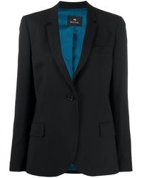 PS by Paul Smith Single-breasted Blazer - Black