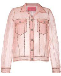 Viktor & Rolf Прозрачная Куртка - Розовый