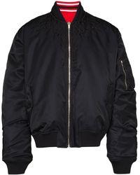 Marcelo Burlon Wings Embroidered Reversible Bomber Jacket - Black
