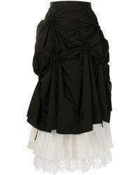 Enfold レイヤード スカート - ブラック