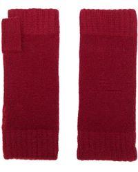 N.Peal Cashmere Трикотажные Перчатки-митенки - Красный