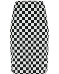 Boutique Moschino Юбка-карандаш В Клетку - Черный