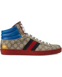 Gucci Ace GG High-top Sneakers - Brown
