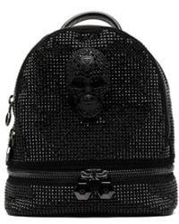 Philipp Plein Crystal-embellished Backpack - Black