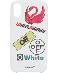 Off-White c/o Virgil Abloh 'White Swans' iPhone XR-Hülle - Weiß