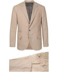 Brunello Cucinelli スリムフィット スーツ - ブラウン