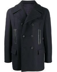 Ferragamo Двубортное Пальто - Синий