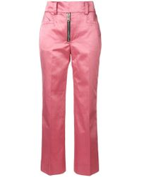 COACH Cropped Tailored Pants - Pink
