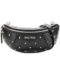 Miu Miu - Spike Studded Belt Bg - Lyst