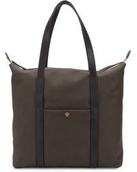 Mismo Top Handles Shopper Tote Bag - Brown