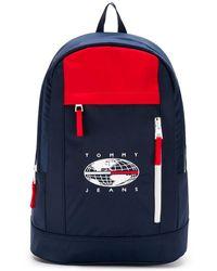 Tommy Hilfiger Rucksack mit Logo-Print - Blau