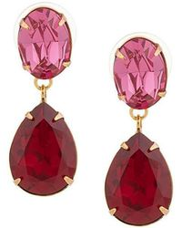 Jennifer Behr - Rhinestone Drop Earrings - Lyst