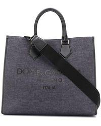 Dolce & Gabbana Edge Denim Draagtas - Blauw