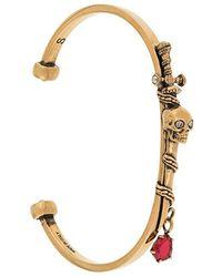Alexander McQueen - Skull And Sword Bracelet - Lyst