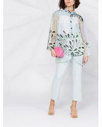Giorgio Armani Прозрачная Рубашка С Цветочным Принтом - Многоцветный