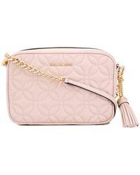7593330c071d MICHAEL Michael Kors Ginny Love Crossbody Bag in Black - Lyst