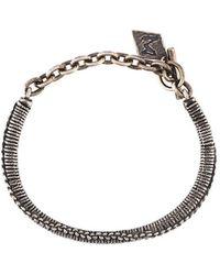 M. Cohen twist clasp bracelet - Grey ajJXh0pbM1