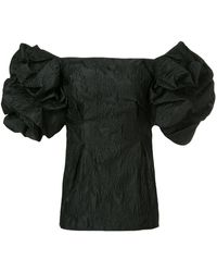 Bambah Puffball Sleeve Tunic - Black