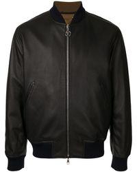 Louis Vuitton Zip-up Reversible Long Sleeve Jacket Coat - Black