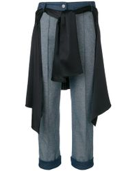 Hellessy - Cropped Wrap-around Shirt Jeans - Lyst
