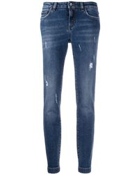 Dolce & Gabbana ダメージ スキニージーンズ - ブルー