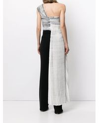 SemSem Hand-painted Pleated Bustier Top - White