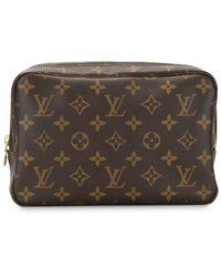 Louis Vuitton Estuche de maquillaje con logo - Marrón