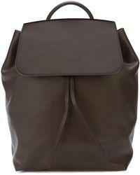 Mansur Gavriel Large Drawstring Backpack - Brown