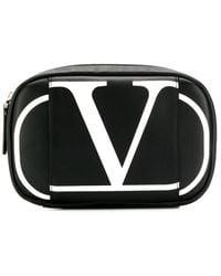 Valentino Logo printed clutch bag