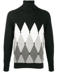 Ballantyne アーガイル セーター - ブラック