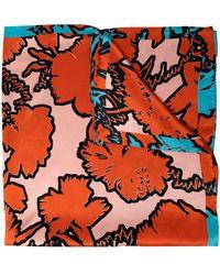 Paul Smith Платок Rave С Цветочным Принтом - Оранжевый