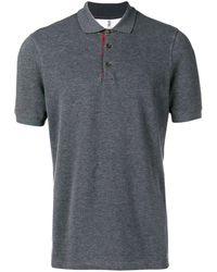 Brunello Cucinelli Рубашка-поло С Контрастной Отделкой - Серый