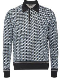 Prada Gebreid Poloshirt - Zwart