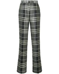 Self-Portrait - Plaid Straight Leg Trousers - Lyst