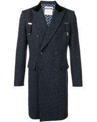 Moschino - Overall Tweed Coat - Lyst