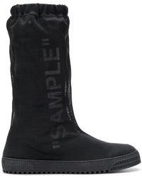 8ccaf61bfa71 Lyst - Off-White c o Virgil Abloh Black Suede Ice-grip Hiking Boots ...