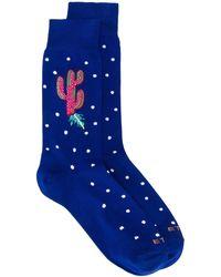 Etro Cactus Knit Socks - Blue