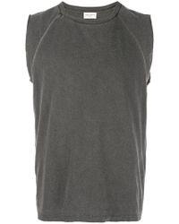 Saint Laurent - Sleeveless T-shirt - Lyst