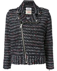 Coohem Tweed Biker Jacket - Black