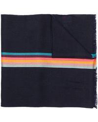 Paul Smith Artist Stripe ストール - ブルー