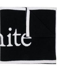Off-White c/o Virgil Abloh Шарф С Логотипом - Черный
