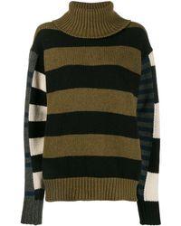 Colville Bold Striped Sweater - Green